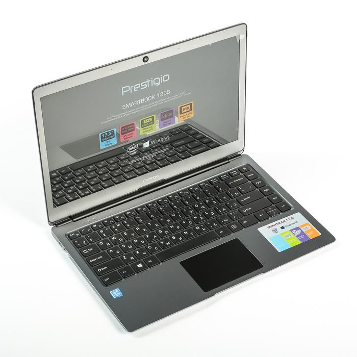 Ноутбук Prestigio SmartBook 133S, Intel Celeron N3350 до 2.4GHz, 3GB/32GB, тёмно-серый