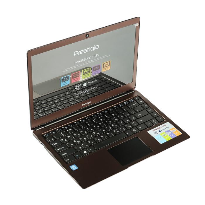 Ноутбук Prestigio SmartBook 133S, Intel Celeron N3350 до 2.4GHz, 3GB/32GB, тёмно-коричневый