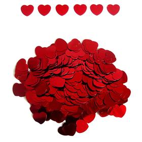 """Конфетти """"Сердца красные"""", 14 гр, 12 мм"""