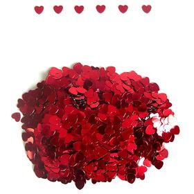 """Конфетти """"Сердца красные"""", 14 гр, 6 мм"""