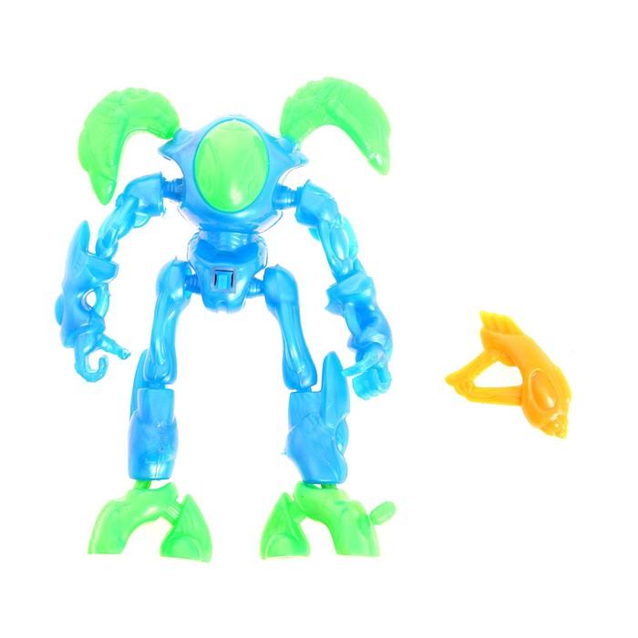 Робот-конструктор, со световыми эффектами, цвета МИКС