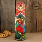 Штоф «Матрёшка - барыня», красный платок, сказка, 0,5 л, 33 см