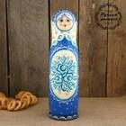 Штоф «Матрёшка», бело-голубой платок, гжель, 0,5 л, 33 см