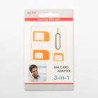 Адаптер для SIM-карты Activ 3 в 1, nano/micro/mini, оранжевый