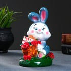 """Копилка """"Кролик с корзиной роз"""""""