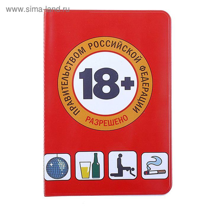 """Обложка для паспорта """"18+"""""""