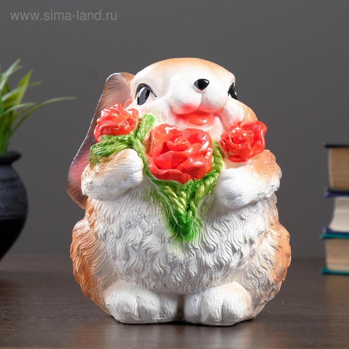 """Копилка """"Зайка с цветами"""" микс"""