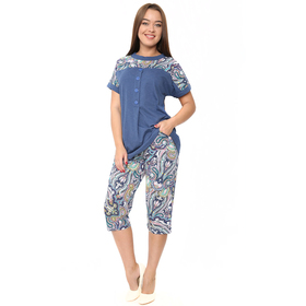 Комплект женский (футболка, бриджи) ТК-494 цвет МИКС, р-р 46