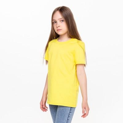 Футболка для девочки А.10766 желтый, 98-104 см (28)