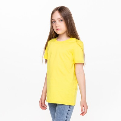 Футболка для девочки А.10766 желтый, 110-116 см (32)