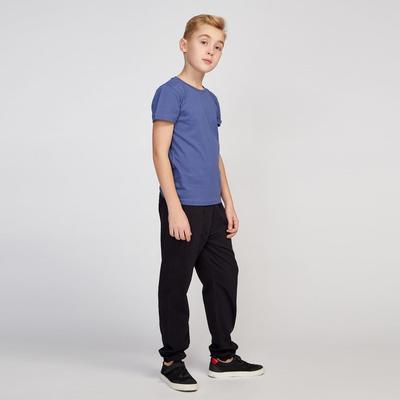Футболка для мальчика, рост 122-128 см, цвет синий 10740.