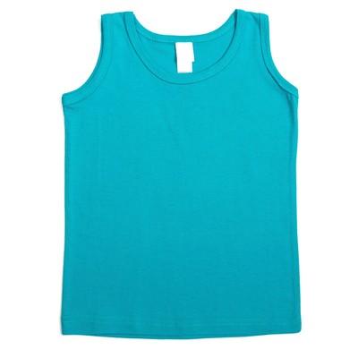Майка для мальчиков, цвет голубой, 128-134 см (36)