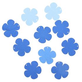 Подвеска деревянная для декора 'Цветок' синий/голубой, d=4 см Ош