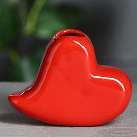 "Ваза ""Сердце"" красное"