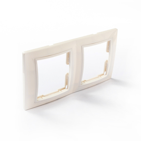 Рамка 2-х постовая вертикальная белая 'Таймыр' TDM Ош