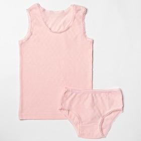 Комплект для девочки, рост 92 см, цвет розовый 124_М