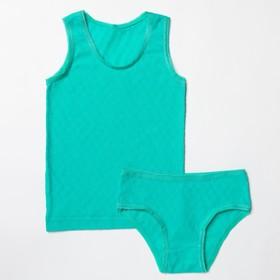 Комплект для девочки, рост 86 см, цвет голубой 124_М