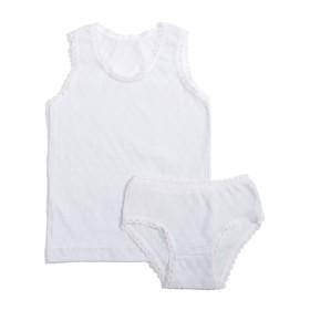 Комплект для девочки, рост 86 см, цвет белый 124_М