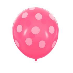 """Шар латексный 12"""" Розовый Горох 5 шт."""