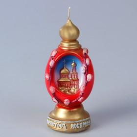 Декоративная свеча «Пасхальное яйцо с храмом»»