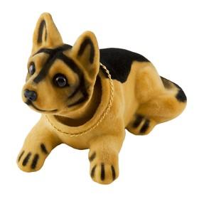 """Собака большая в машину с освежителем SKYWAY """"Лимон"""", овчарка, 16х8х10,5 см"""