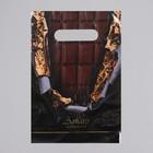 """Пакет """"Горький шоколад"""", полиэтиленовый с вырубной ручкой, 20 х 30 см, 30 мкм"""
