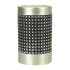 Стакан для зубной пасты Parc East Grid Silver, цвет серебристый