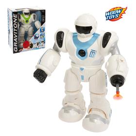 """Робот """"Космобот"""", работает от батареек, световые и звуковые эффекты, цвета МИКС"""