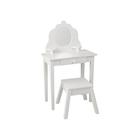 """Туалетный столик из дерева для девочки """"Модница"""", цвет белый"""