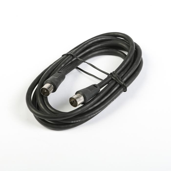 Кабель телевизионный Cablexpert, CCV-515, Coaxial M/F, 1.8 м, черный