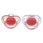 Пустышка силиконовая ортодонтическая Freeflow, для девочек, от 6 до 18 мес., набор 2 шт.