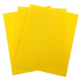 Салфетки вискозные для уборки, 3шт. в упаковке, 30 х 38 см ЧМ /70  желтый Ош