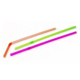 Трубочки для напитков 'ПРАЗДНИЧНЫЕ', 50 шт, цветные со сгибом, d5мм х 210мм Ош