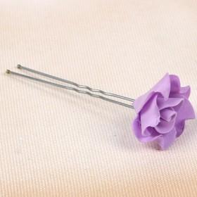 Цветок  на шпильке лилия 10 шт., сиреневая Ош