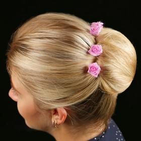 Цветок  на шпильке роза №2 10 шт., розовый Ош