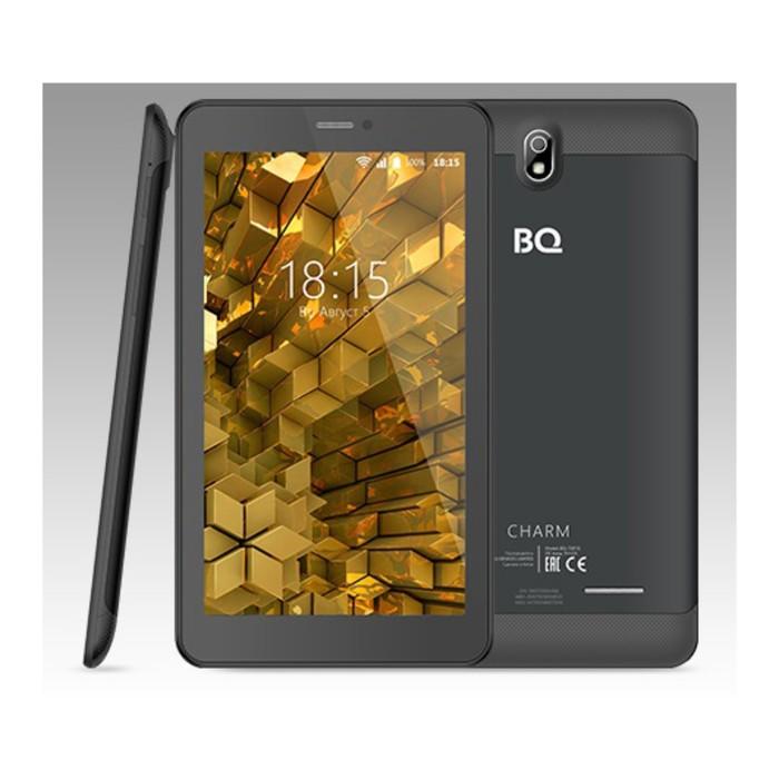 "Планшет BQ 7081G Charm Black 7"",1024х600,IPS1.3Ghz,1+8Гб,GPS,Android 7.0,2650mA, черный"