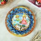 """Тарелка конфетница """" Христосъ Воскресе. Ангелочки"""" , 19.5х19.5см"""