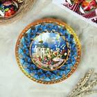 """Тарелка конфетница """" Христосъ Воскресе."""" , 19.5х19.5см"""