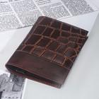 Обложка д/паспорта 130-05 Textura, 9,5*0,3*13,7, св. коричневый скат / коричневый пулап36