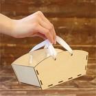 Ящик прямоугольный для цветов, с ручкой, 19х8х10см