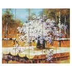 """Картины по номерам на дереве 40х50 Сунг ли """"Букет полевых ромашек""""  GXT4588"""