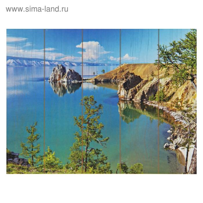 "Картины по номерам на дереве ""Озеро Байкал"""