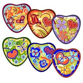 Прихватка 'Сердечки', размер 17х17 см, цвет микс L22-199 Ош