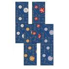"""Дорожка на стол """"Джинс-цветы"""", размер 45х145 см, цвет микс МТ71-107"""