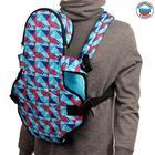 Рюкзак-кенгуру «Сидим и лежим», цвет голубой «Арлекино»