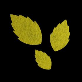 Набор декоративных элементов из фетра на клеевой основе 'Листья розы' (3 шт)светло-зелёный Ош