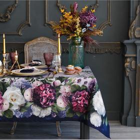 """Набор столовый """"Этель"""" Цветочный этюд, скатерть 180*150 см, салф. 40*40 см-8 шт, 100% хл"""