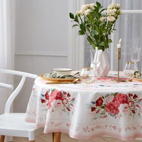 Скатерть «Этель» «Розы», d = 160 см, хлопок 100 %, саржа 190 г/м²