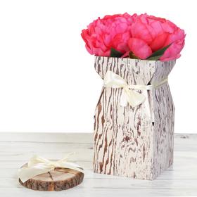 Складная коробка–ваза «Дерево», 12 х 12 х 23 см