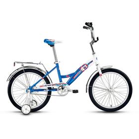 """Велосипед 20"""" Altair City Boy 20, 2017, цвет белый/синий, размер 13"""""""